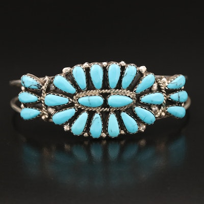 Juliana Williams Navajo Diné Sterling Faux Turquoise Cuff