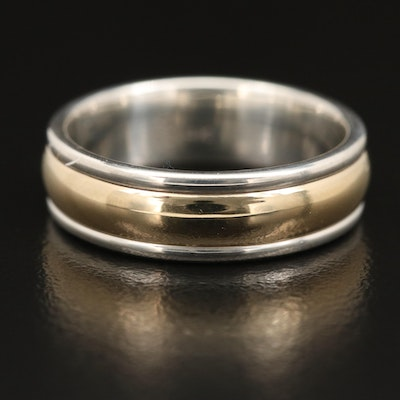 "James Avery ""Simplicity"" Sterling Band with 14K Center"