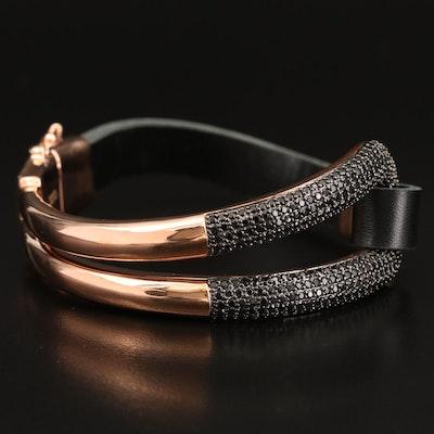 Italian Milor Bronze Spinel Bracelet