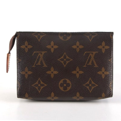 Louis Vuitton Poche Toilette 15 in Monogram Canvas and Vachetta Leather