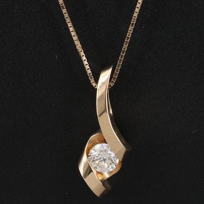 Sirena 14K Diamond Twist Necklace