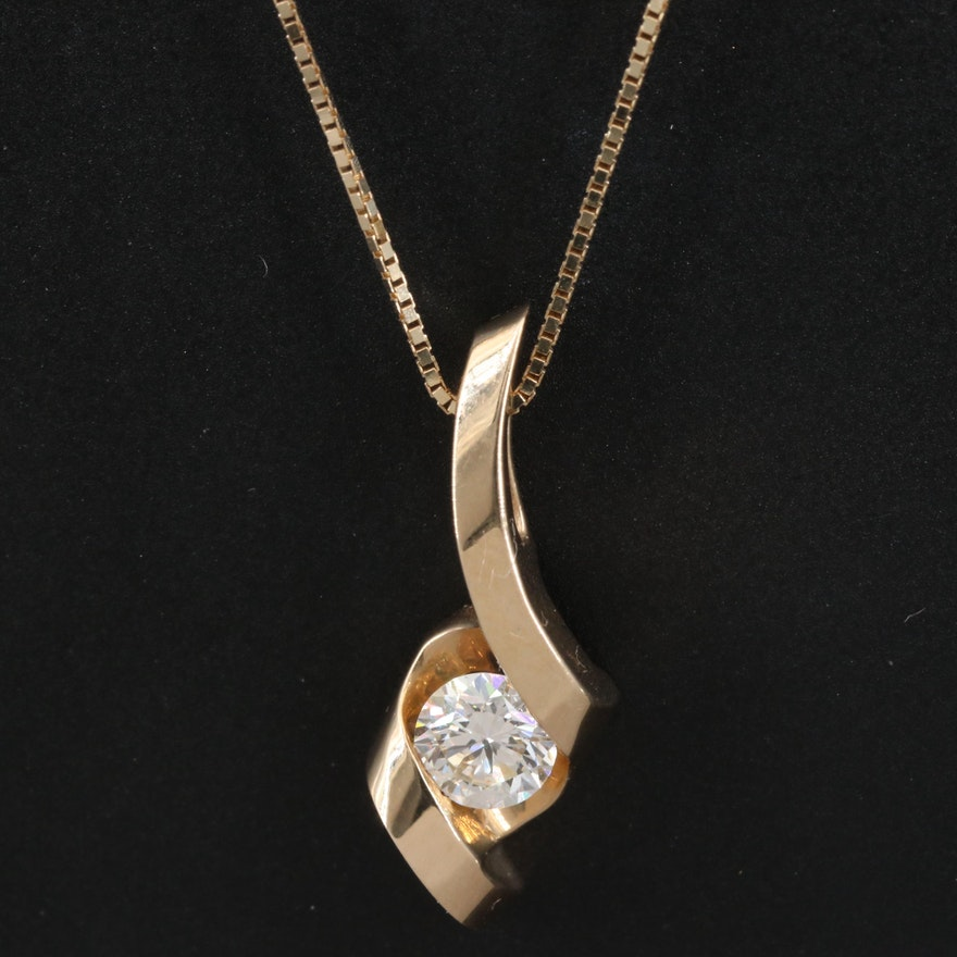 Sirena 14K Diamond Twist Necklace