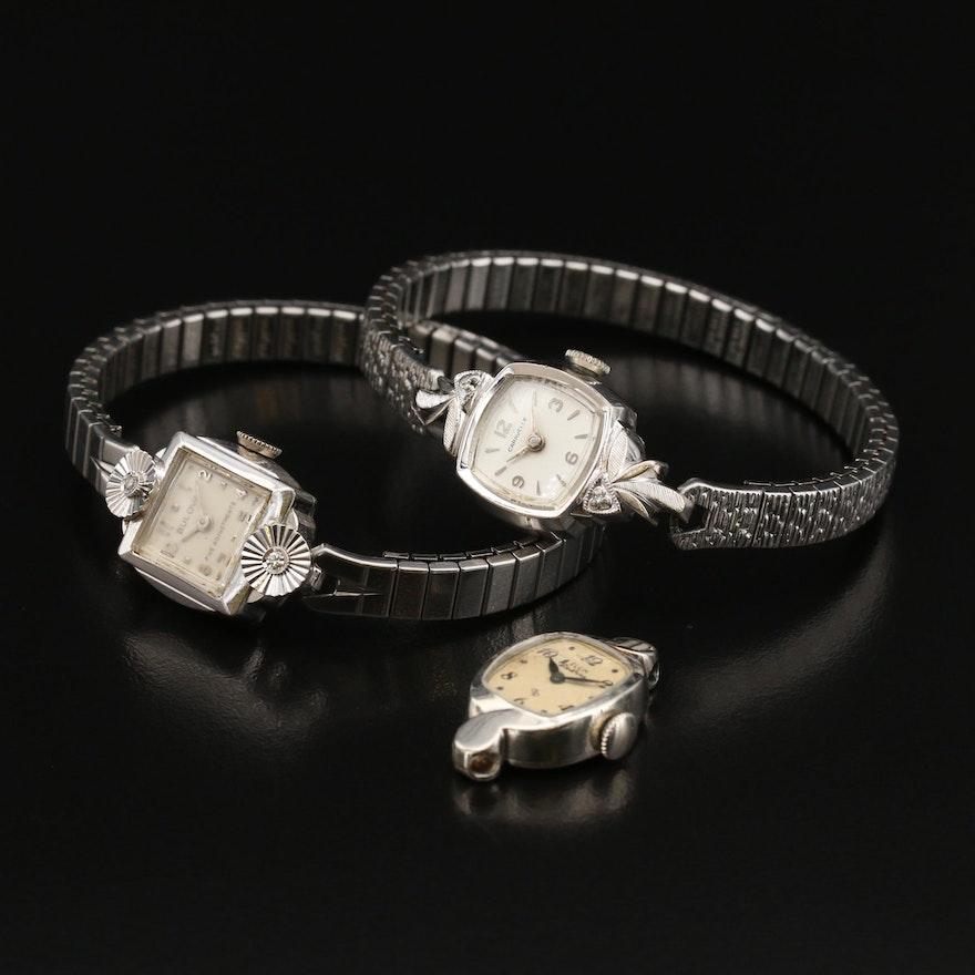 Three Vintage American Stem Wind Wristwatches
