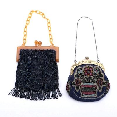 Bakelite Beaded Frame Bag and Floral Beaded Frame Bag