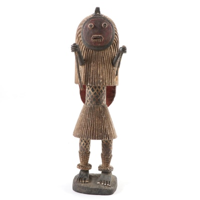 "Baule Inspired Figure after ""Kple Kple"" Mask, West Africa"