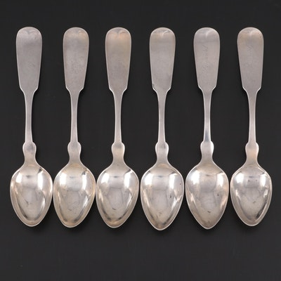 Sterling Silver Fiddle Handle Teaspoons with W.D. & A McLean Retailers Mark