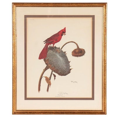 "Ray Harm Offset Lithograph ""Cardinal,"" Late 20th Century"