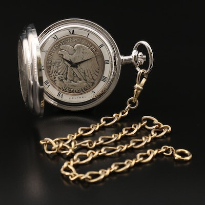Colibri Coin Cover  and Dial Pocket Watch