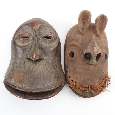 Hemba Style Wooden Masks, Democratic Republic of the Congo