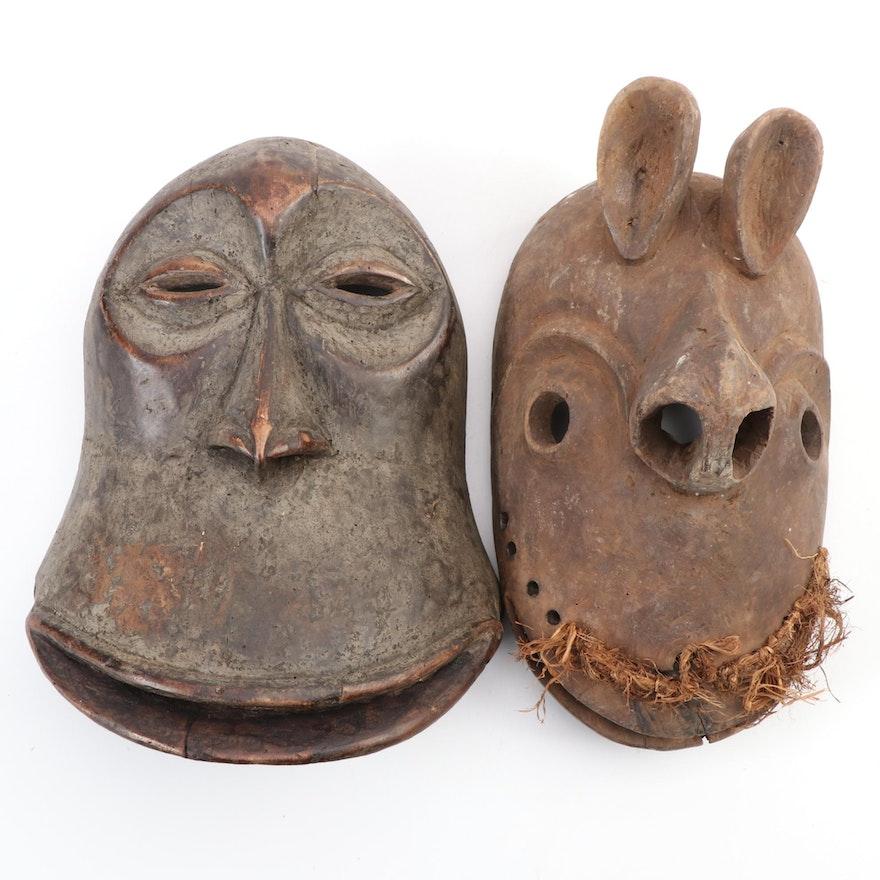 Hemba Style Wooden Masks, Democratic Republic of the Congo