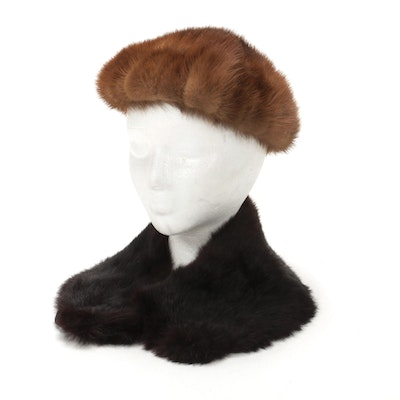Mink Hat and Mahogany Mink Collar