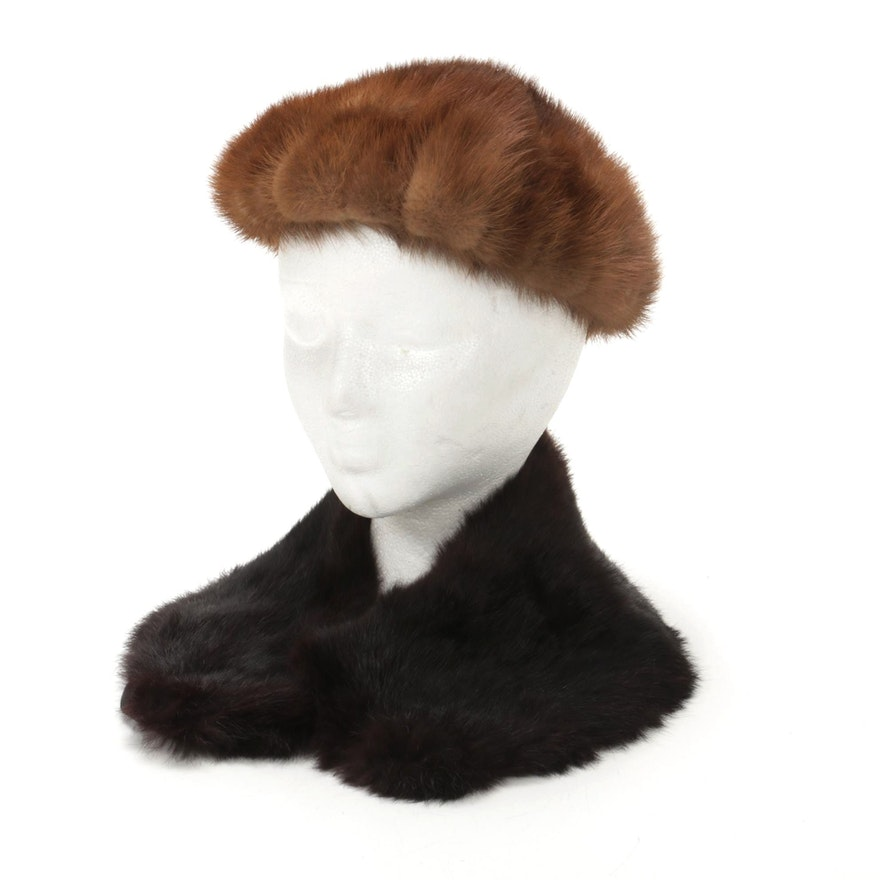 Mink Hat and Mahogany Mink Collar