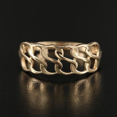 14K Twisted Wire Band