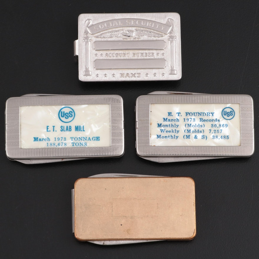 Anson Social Security Money Clip with Other Metal Money Clips Pocket Knives