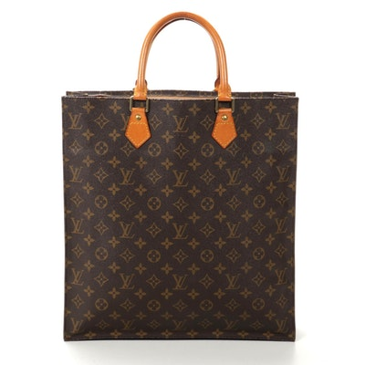 Louis Vuitton Sac Plat in Monogram Canvas