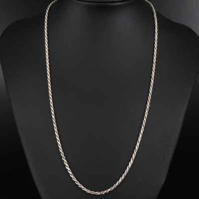 Sterling French Rope Chain Necklace