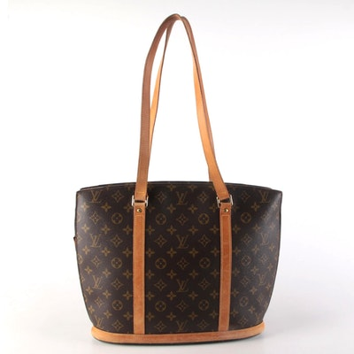 Louis Vuitton Babylone Tote in Monogram Canvas with Vachetta Leather Trim
