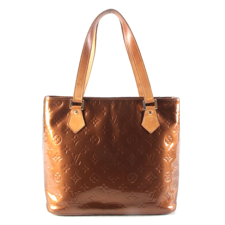 Louis Vuitton Houston Tote in Bronze Monogram Vernis Leather