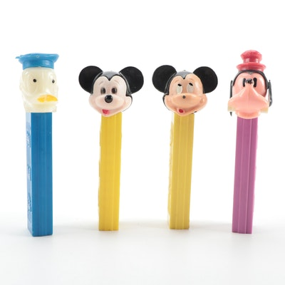 """PEZ """"Goofy"""", """"Mickey Mouse"""" and """"Donald Duck"""" Candy Dispensers with No Feet"""