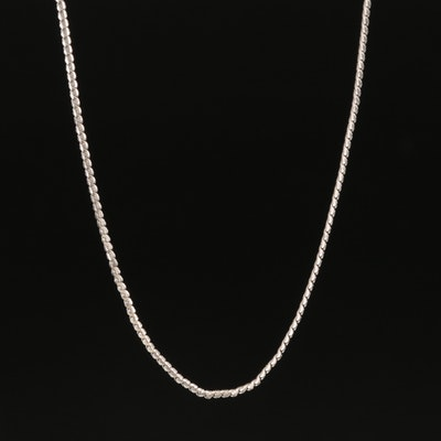 18K Uno A Erre Serpentine Chain Link Necklace