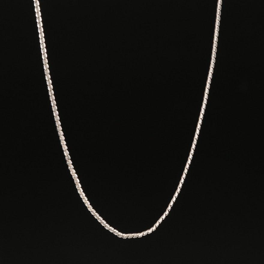 18K Uno A Erre Serpentine Chain Link Necklace