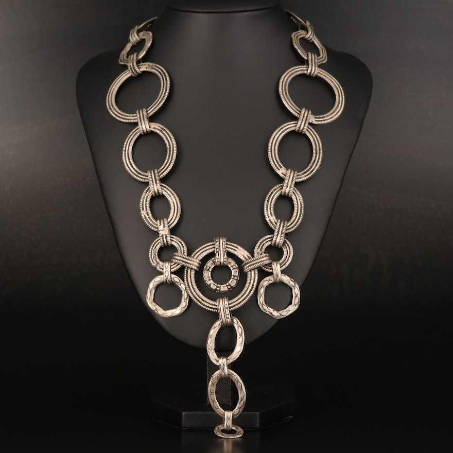 Indian Rajasthani 800 Silver Tribal Necklace