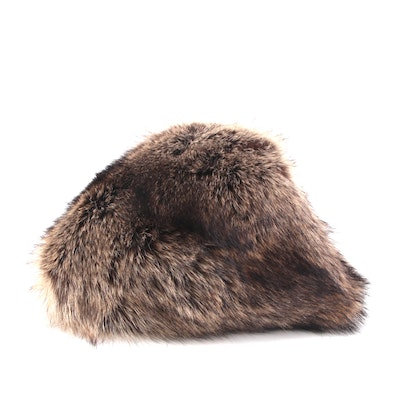Vincent and Bill Raccoon Fur Casque Hat