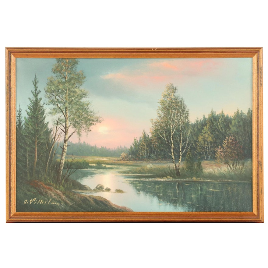Sunset Landscape Oil Painting