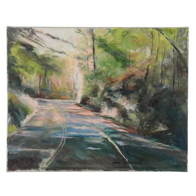 Leigh Rodenbough Oil Painting of Forest Roadway