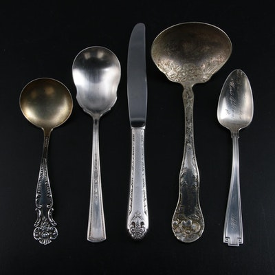 "Gorham Engraved ""Etruscan"" Teaspoon and Other Sterling and Silver Plate"