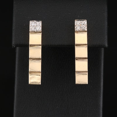 14K Diamond Stepped Earrings