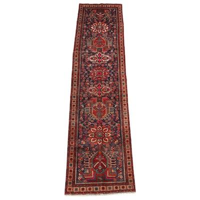 3'2 x 13'2 Hand-Knotted Caucasian Kazak Wool Long Rug