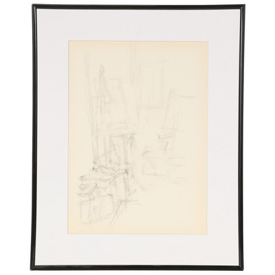 "Lithograph after Alberto Giacometti for ""Derrière le Miroir,"" 1957"