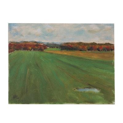 Natalia Clarke Landscape Study Oil Painting, 21st Century
