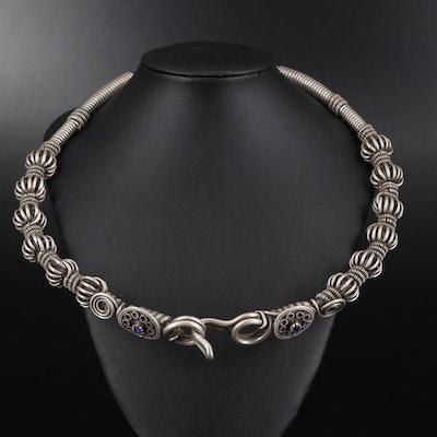 Pakistani 800 Silver Kalash Necklace