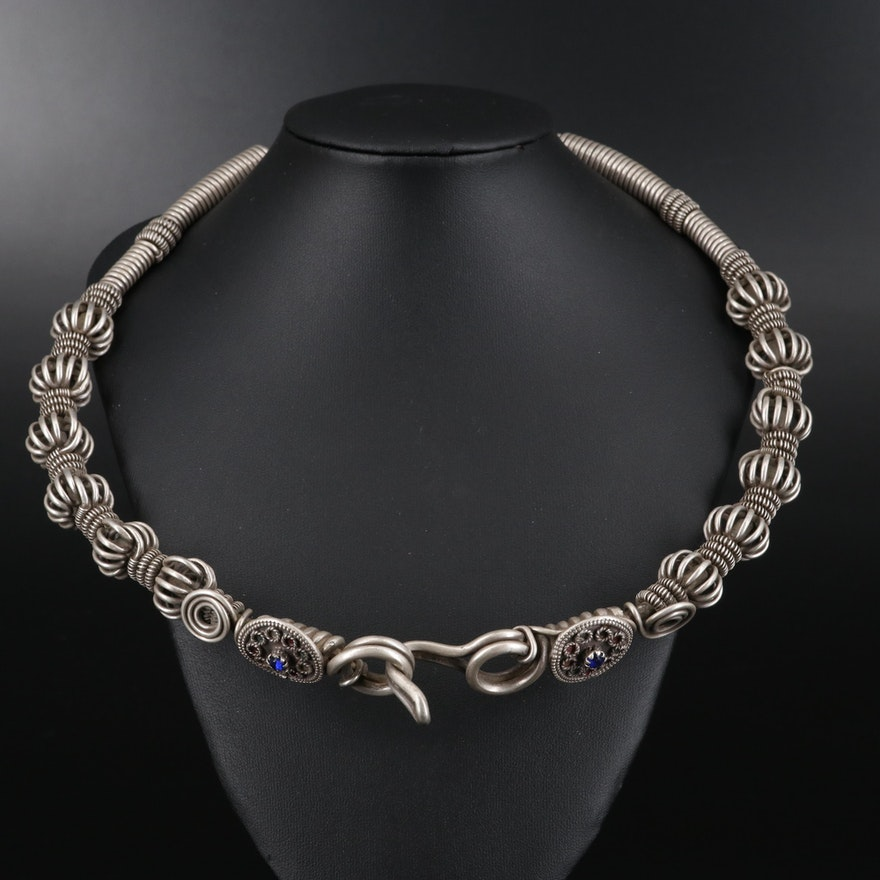 Pakistani 800 Silver Kalash Necklace