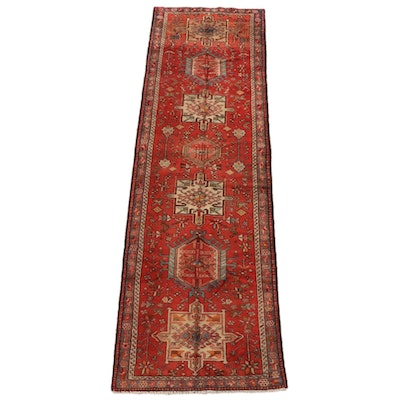 3'3 x 11'2 Hand-Knotted Persian Kazak Wool Long Rug