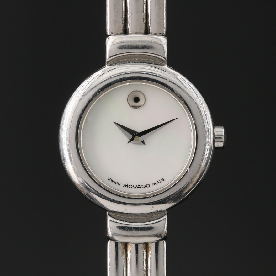 "Movado Mother of Pearl Dial ""Museum Piece"" Wristwatch"