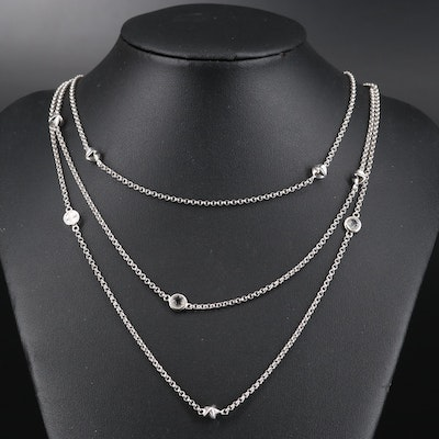 Empirio Armani Sterling Station Necklace