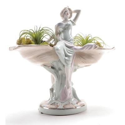 Art Nouveau Style Porcelain Compote