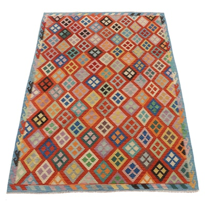 6'11 x 9'8 Handwoven Turkish Caucasian Kilim Area Rug, 2010s