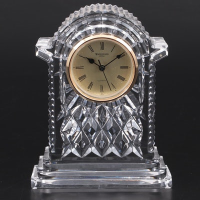 "Waterford Crystal ""Lismore"" Quartz Carriage Clock, Late 20th Century"