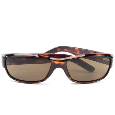 Gucci 1410/S Brown Tortoise Acetate Sunglasses with Solid Brown Lenses