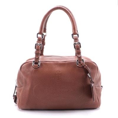 Prada Bauletto Bag BR3091 in Nocciolo Vitello Daino Print Leather
