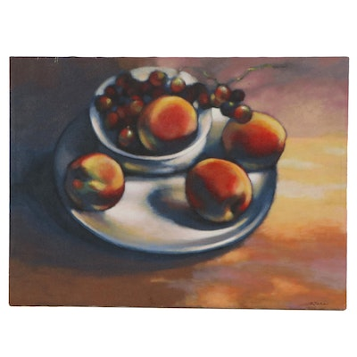 Vlad Tabac Still Life Oil Painting with Fruit, 2003