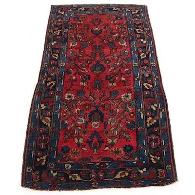 2'10 x 5'5 Hand-Knotted Persian Lilihan Wool Area Rug, circa 1920s