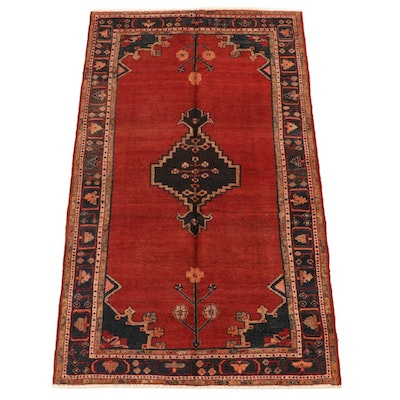 4'5 x 8'2 Hand-Knotted Northwest Persian Wool Area Rug