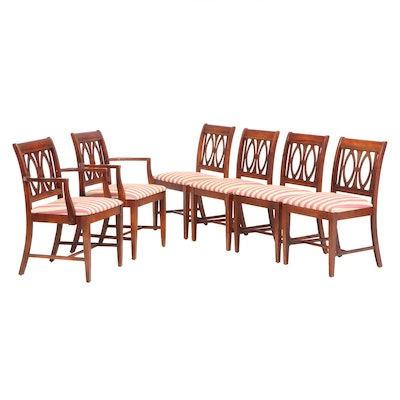 Six Federal Style Mahogany-Stained Dining Chairs, Mid to Late 20th Century