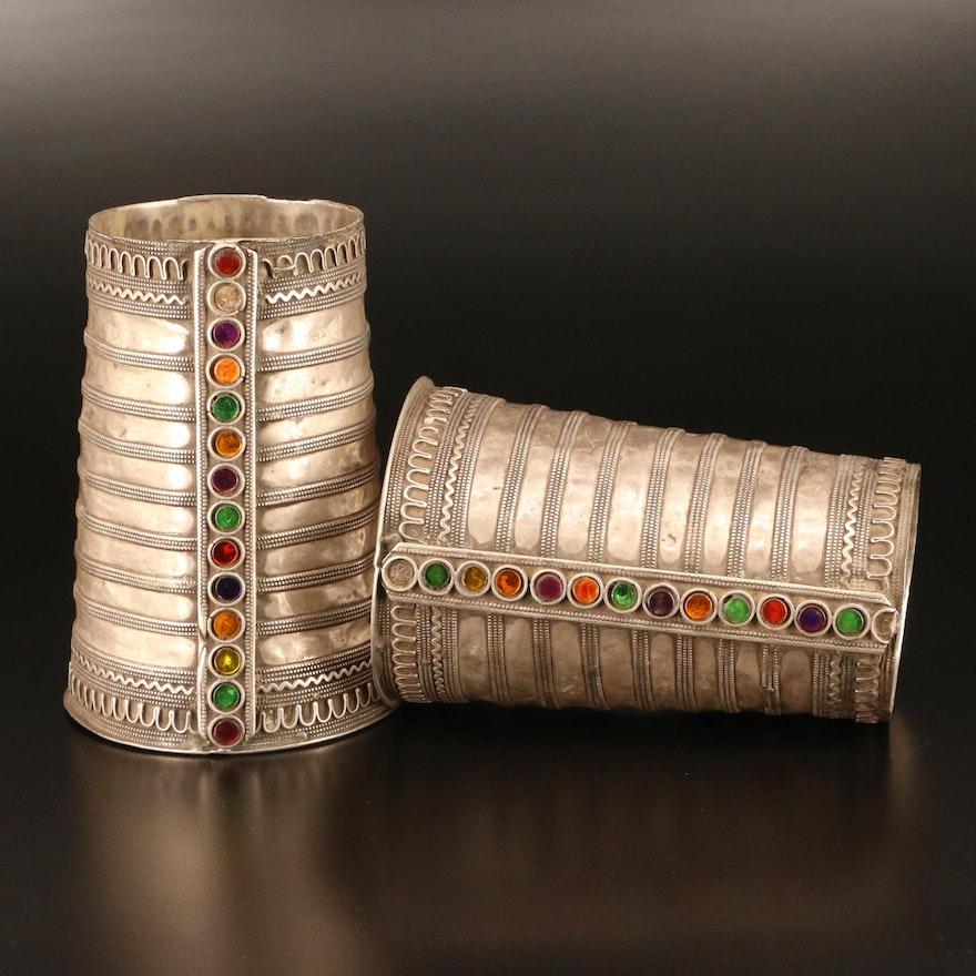 Indian Kuchi Tribal Style Glass Armband Cuffs