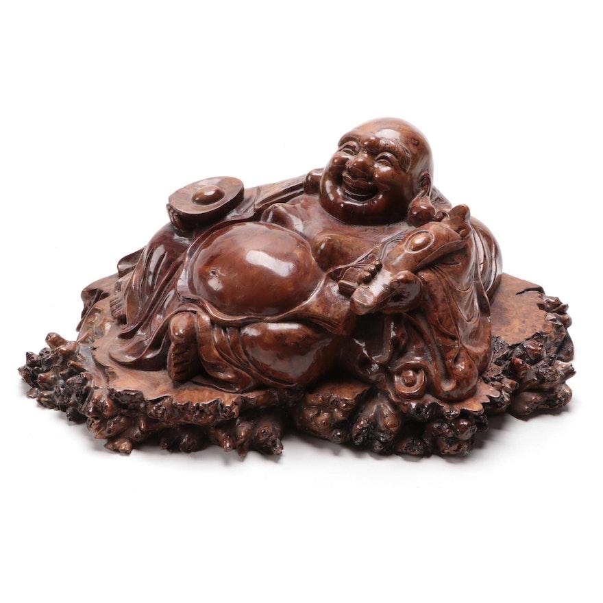 Chinese Carved Soapstone Budai Figurine